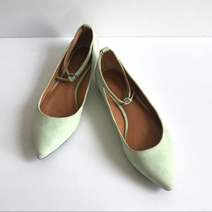 Madewell Suede Leather Pointy Flats